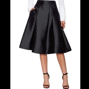 Alexis Paola Pleated black full skirt chevron XS
